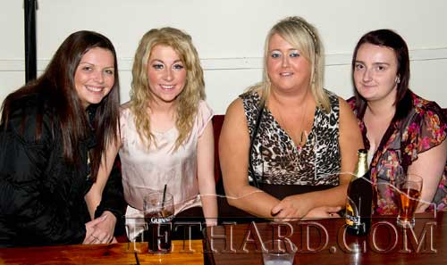 Photographed at the 'Thorney Rose' competition held in Lonergan's Bar are L to R: Tracy Burke, Stacie Grace, Samantha O'Brien and Tracy Needham.