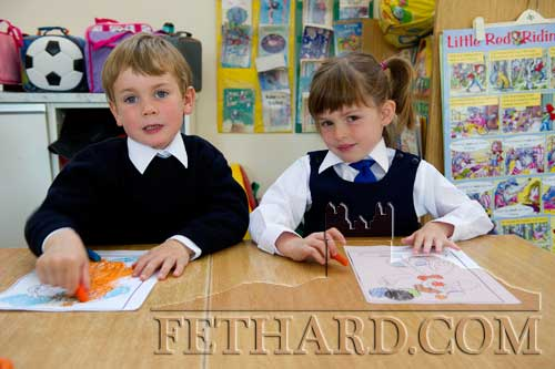 Starting school at Holy Trinity National School are L to R: Richard Murphy and Lily Murphy