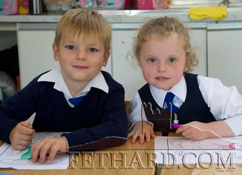 Starting school at Holy Trinity National School are L to R: Misha Makhinya and Alice Walsh