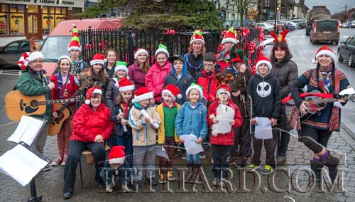 Fethard Scouts photographed carol singing at The Square Fethard over the festive season.
