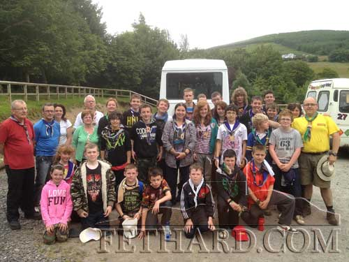 Fethard Scouts and Ventures photographed on Annual Camp at Larch Hill in the Dublin Mountains
