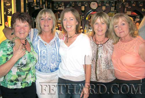 Five sisters reunion - photographed at Loudest Whisper in Butler's Bar Fethard last weekend are the five O'Brien sisters who came together on the night for a 'reunion' and celebration. L to R: Kathy, Bernie, Teresa, Joan and Moira O'Brien.
