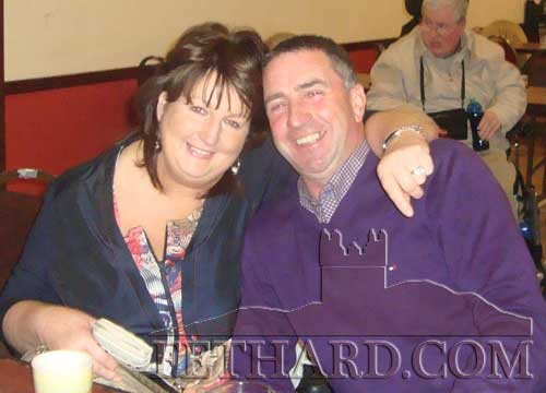 Peggy Moroney and Eddie O'Donnell photographed at the Tipperay IWA Branch social in Cloneen.