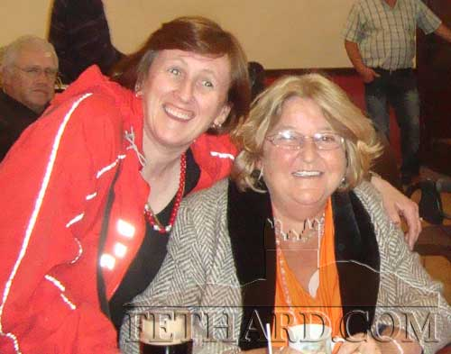 L to R: Jane Ryan and Barbara Dargan photographed at the Tipperay IWA Branch social in Cloneen.