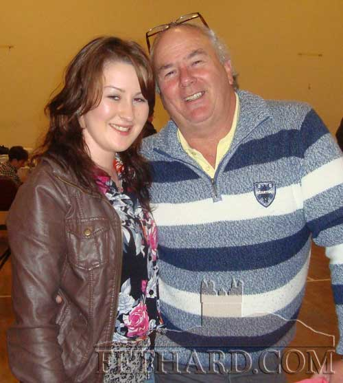 Niamh O'Donohoe and John Ryan photographed at the IWA Tipperary Branch social in Cloneen