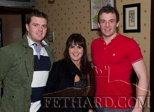 Photographed on New Year's Eve in Fethard are L to R: Tommy Gahan, Evelyn Skehan and Shane Walsh