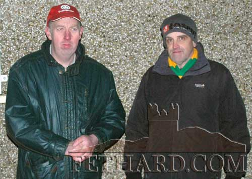 Fethard supporters at the Junior B County Final L to R: Michael O'Riordan and Stephen Fitzgerald