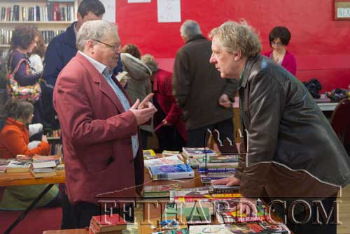 Discussing books at the Tipperariana Book Fair in Fethard Ballroom are L to R: Gerry Long and John Cooney