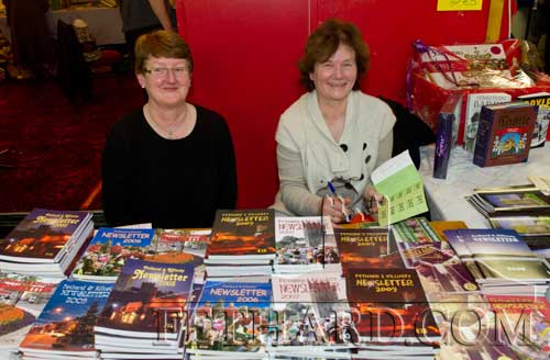 Helping at the Fethard Historical Society's stall a the Tipperariana Book Fair in Fethard Ballroom are L to R: Gemma Burke and Marie Murphy
