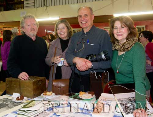 Photographed at the Tipperariana Book Fair in Fethard Ballroom are L to R: Terry Cunningham, Tipperariana Co-ordinator; Mona Beisegel, a sister of the late Rudi Holzapfel; Luke Golobitsh and Ulla Holzapfel Stroucken, wife of the late Rudi Holzapfel, who all travelled to Fethard for the launch of 'Spring Song, The Poetry of Rudi Holzapfel 1960-2005'.