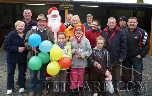 Santa, along with friends and stall holders at Fethard Car Boot Sale, wishing Tony Morgan the very best of luck on Saturday's Winning Streak.