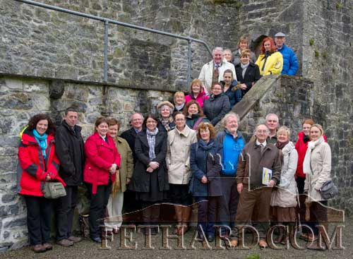Local tourism advisers photographed by Fethard Town Wall while on a 'Familiarisation Trip' to Fethard on Wednesday, April 25.