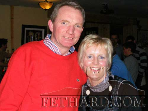 Photographed at the fundraiser in aid of Cancer Research held at the Village Inn, Moyglass, are L to R: John and Mary O'Meara
