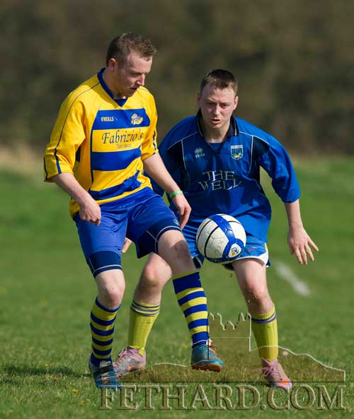 L to R: Stephen Quinn (Tipperary Town) and Eoghan Aylward (Killusty)