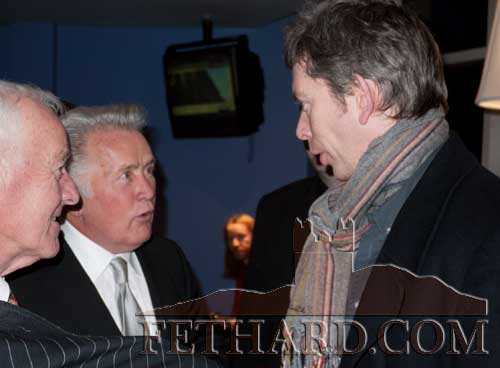 John Kelly speaking with Martin Sheen at the Premier of Stella Days in Dublin on 23rd February 2012.
