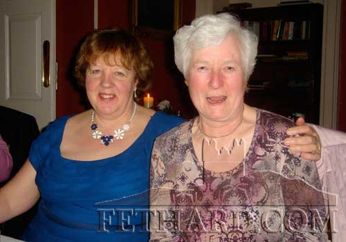 Anne Darcy and Helen McMahon photographed at the Fethard Knitting Group's winter party at Raheen House