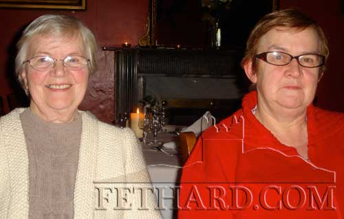 Sr. Juliana and Catherine O'Flynn photographed at the Fethard Knitting Group's winter party at Raheen House