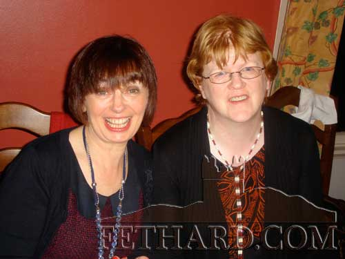 Teresa Fehilly and Rosemary Purcell photographed at the Fethard Knitting Group's winter party at Raheen House