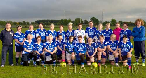 Fethard's Gaelic4Mothers had their first competitive game of 2012 on Wednesay, May 23. Pictured are (back, l-r) MJ Croke, Treacy Lawrence, Debbie Lawrence, Claire McGarry, Ann Tillyer, Aine Doocey, Christine Doyle, Caroline Sheehan, Noelle Aherne, Donna Browne, Carina Condon, Catherina Davey, Helena Vaughan, Michael Ryan. Front l-r, Alice Butler, Cabrina Roche, Anne Marie Kenny, Jackie O'Flynn, Annette Connolly, Theresa Hurley, Mary Connors, Kay Cummins, Patricia Fitzgerald and Mary Ryan.