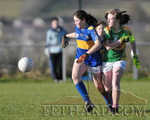 Laoise Stapleton gets past her marker in the Kerry v Tipperary Under 13 Inter-County match on Saturday, November 17.