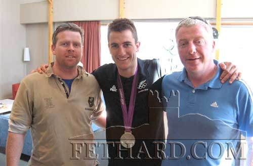 Jason Nevin send his best wishes to the 'Walled Town' and this photograph of himself with Eugene Duggan (right) and New Zealand Olympian Blair Tuke (centre).