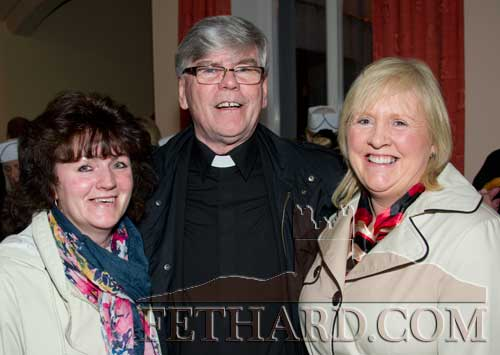 Photographed at the Presentation Sisters 150th Anniversary Celebrations in Fethard are L to R: Mary (Mullins) O'Dwyer, Canon Tom Breen P.P. and Geraldine Mullins