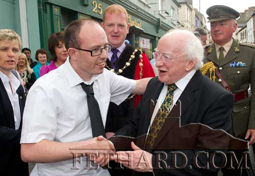 "Clonmel Borough Council decided to include President Higgins among its list of Freemen in recognition of ""his outstanding contribution to the academic, cultural and artistic life of the country and as a token of the high esteem in which he is held by the people of Clonmel""."