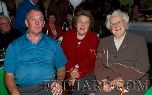 At the reunion were L to R: Joe Allen, Tess Maher and Aggie Barrett