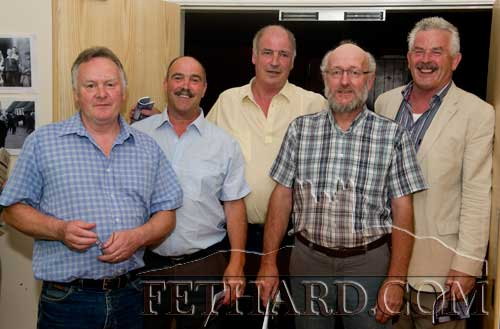 Photographed at the reunion are L to R: Thomas Barrett, Michael McCarthy, Don McCarthy, Ed Healy and Jeff Hanrahan