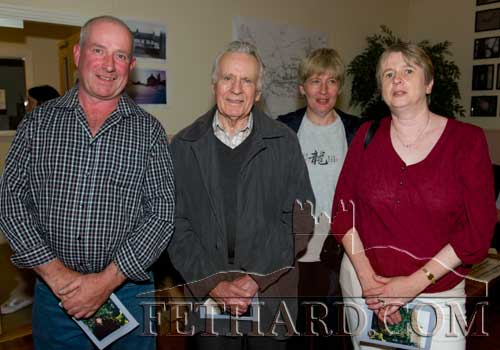 At the reunion were L to R: John Pollard, Gus Breen with his two daughters, Patricia and Monica.