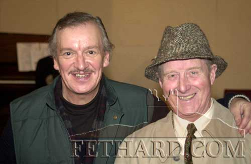 The late Rudi Holzapfel (left) talking to Willie Hayes at the Tipperariana Book Fair in Fethard in 2001