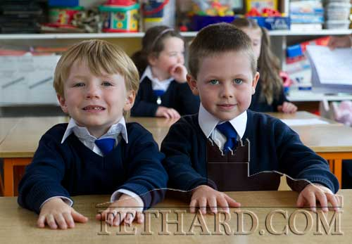 Starting school at Holy Trinity National School are L to R: Bobby Purcell and Darragh Coleman