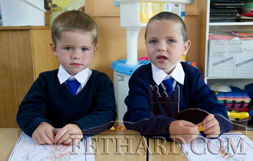 Starting school at Holy Trinity National School are L to R: Sean Thompson and Alex Butler.