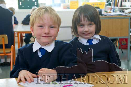 Starting school at Holy Trinity National School are L to R: Paddy Ryan and Maria Brett