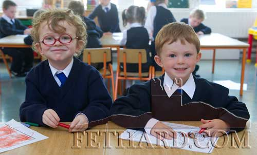 Starting school at Holy Trinity National School are L to R: Zack Smith and Criostóir Sheehy