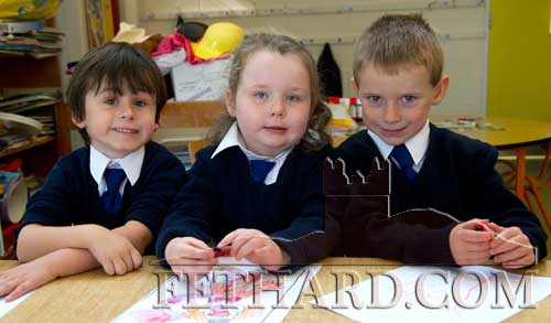 Starting school at Holy Trinity National School are L to R: Killian Hallinan, Hanagh O'Sullivan and Michael Walsh.