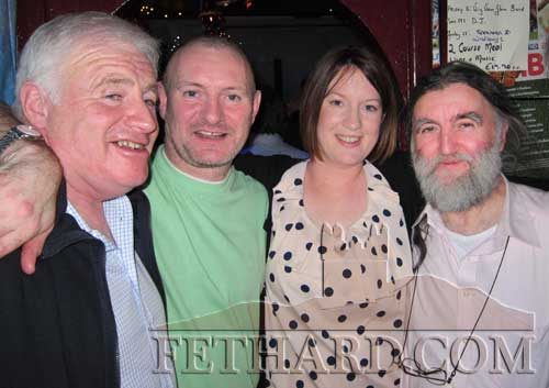 Photographed on St. Stephen's Day at Lonergan's Bar are L to R: Davy Morrissey, Tony Flanagan, Trisha Purcell and Joe Kenny