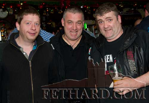 Enjoying a drink in Butler's Bar over Christmas were L to R: Ollie Maher, Tony Maher and Ger Browne