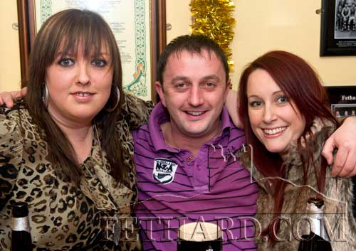 Enjoying a drink in Butler's Bar over Christmas were L to R: Ann Marie Butler, M.J. Croke and Sinead O'Brien