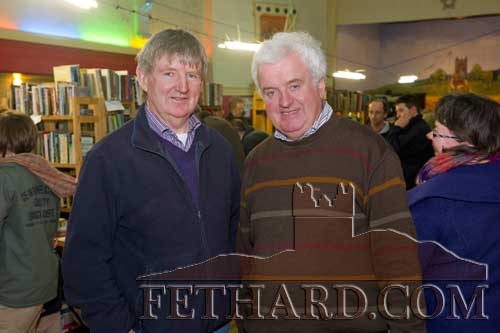 Photographed at the Tipperariana Book Fair in Fethard Ballroom are L to R: Larry Kenny and Paddy Guiney