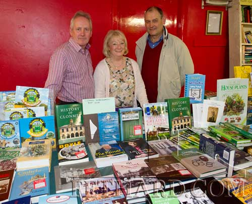Photographed at the Tipperariana Book Fair in Fethard Ballroom are L to R: Denis Donovan, Rosie Donovan (Bookmarket, Clonmel) and Peter Grant
