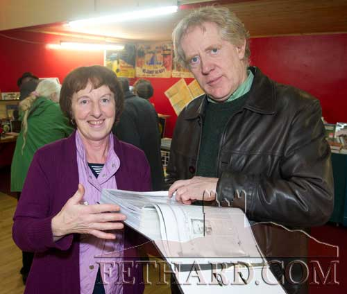Photographed at the Tipperariana Book Fair in Fethard Ballroom are L to R: Helen McGrath (Newcastle) and John Cooney (Fethard).
