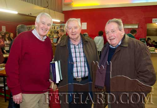 Photographed at the Tipperariana Book Fair in Fethard Ballroom are L to R: Dr. Willie Nolan (Geography Publications), Michael Coady and Liam Hogan from Carrick-ion-Suir.