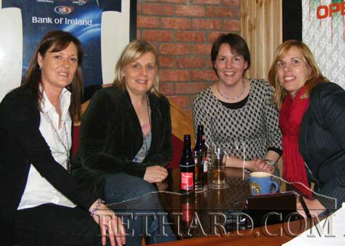 Photographed at the fundraiser in aid of Cancer Research held at the Village Inn, Moyglass, are L to R: Anne Moloney, Finola Anglim, Carol Neville and Polly Murphy.