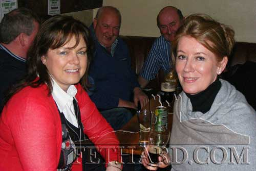 Photographed at the fundraiser in aid of Cancer Research held at the Village Inn, Moyglass, are L to R: Yvonne O'Connor and Susan Archdeacon