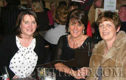 Photographed at the fundraiser in aid of Cancer Research held at the Village Inn, Moyglass, are L to R: Suzanne Campion, Angela Sheehan and Anne Hall