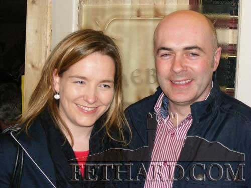 Photographed at the fundraiser in aid of Cancer Research held at the Village Inn, Moyglass, are L to R: Annabelle and Mark Normile.