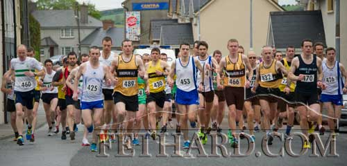 Athletes at the start of the County Senior Road Championships in Fethard
