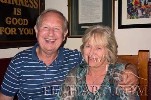 Peter and Bridget O'Donnell photographed in Lonergans Bar
