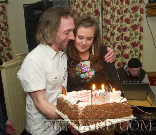 Kevin Whyte and Kelly Fogarty photographed on the occasion of her 21st Birthday Party celebrated in The Castle Inn